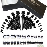 """BodFx """"Super Saver"""" 72 Pieces Ultra Complete Ear Stretching Kit. 14g-00g"""