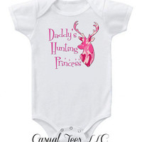 Daddy's Hunting Princess Funny  Baby Girl Bodysuit