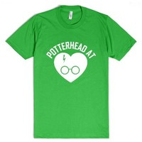 Harry Potter - Potterhead At Heart White-Unisex Grass T-Shirt