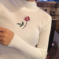 Rose Turtleneck Top
