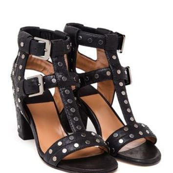 LAURENCE DACADE | Studded Leather Block Heel Sandals | brownsfashion.com | The Finest Edit of Luxury Fashion | Clothes, Shoes, Bags and Accessories for Men & Women