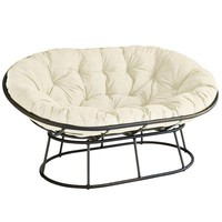 Outdoor Mocha Double Papasan Chair Frame