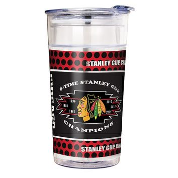Chicago Blackhawks 2015 Stanley Cup Champions Acrylic Party Cup (Hwk Clear)
