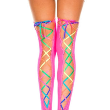 Rainbow Back Lace Stockings