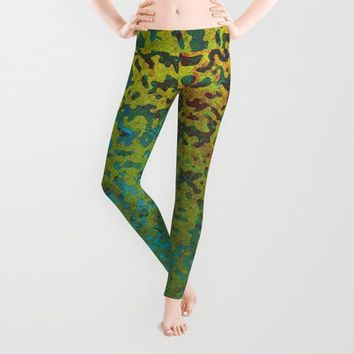 Colorful Corroded Background G292 Leggings by MedusArt