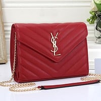 Yves Saint laurent YSL Women Fashion Leather Crossbody Shoulder Bag Satchel