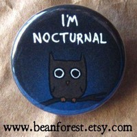 i'm nocturnal  by beanforest on Etsy