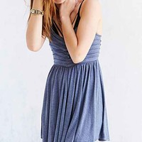 Kimchi Blue Knit Raw-Pleat Skater Dress-