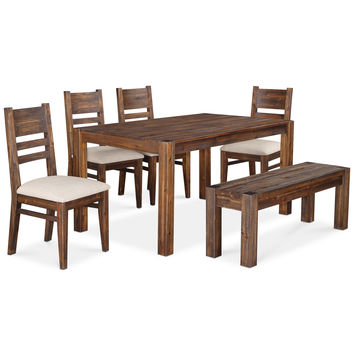 Avondale 6-Pc. Dining Room Set (Table, Bench & 4 Side Chairs)