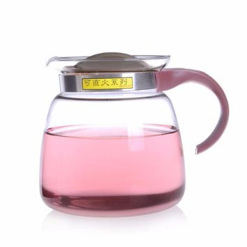 High Quality 1800ml Heat Resistant Glass Teapot Water Kettle Can Directly Heat On Gas & Electric Stoves