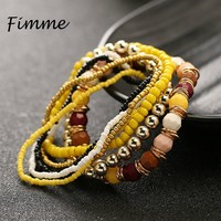 Beads Candy Color Bracelets for Women Ethnic Jewelry