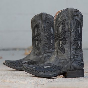 Corral Shaded Eagle Cowboy Boot