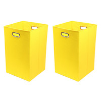 Modern Littles Sweets Folding Laundry Baskets - Yellow