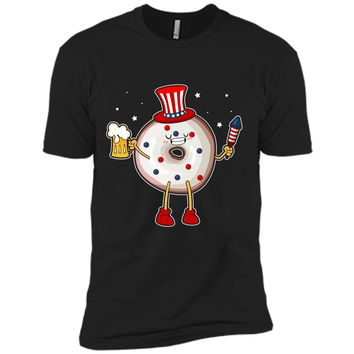 Donut USA Flag American Food Lover 4th Of July T-Shirt