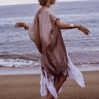 Free People Ombre Shimmer Kimono
