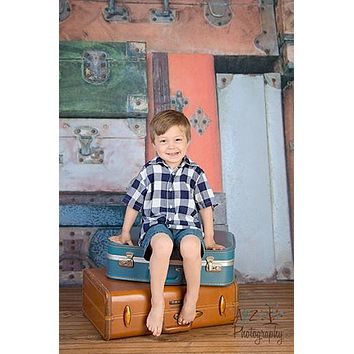 Vintage Suitcases Backdrop - 2428
