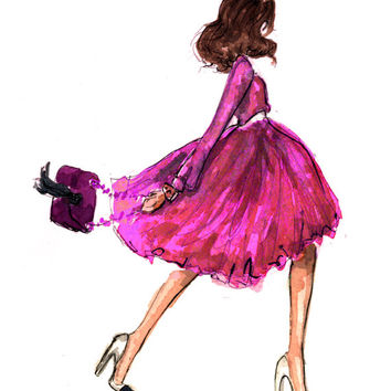 Fashion Illustration Art Print: Modern Mary Tyler Moore