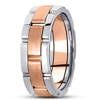 Wedding Band - Watch Band Two Tone Wedding Ring
