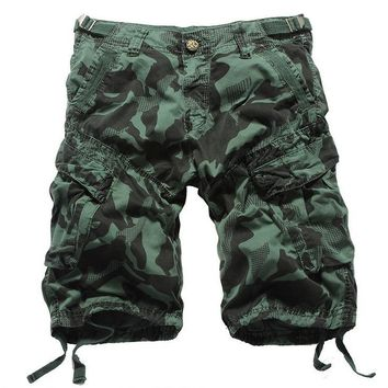Summer 2017 Outdoor Men Multi-pockets military tooling shorts 100%cotton camouflage Mountain Climbing Camping cargo Shorts