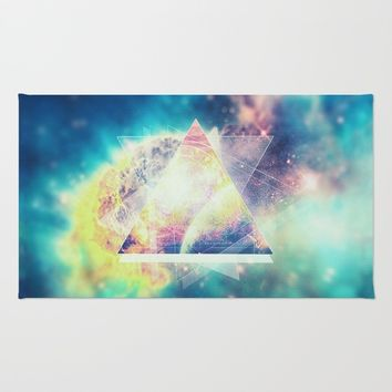 Awsome collosal deep space triangle art sign Rug by Badbugs_art
