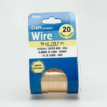 Darice Gold Color 20 Gauge Craft Wire