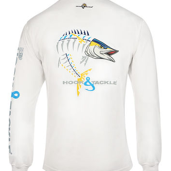 Men's Wahoo X-Ray L/S UV Fishing T-Shirt