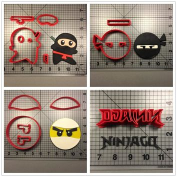 Custom Made 3D Printed Famous Game Ninjago Character Fondant Cupcake Top Cookie Cutters Set Cake Cutter For Decorating Tool