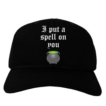 I Put A Spell On You Witches Cauldron Halloween Adult Dark Baseball Cap Hat
