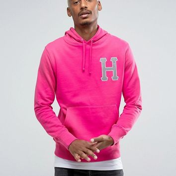 HUF Hoodie With Reflective Applique Logo at asos.com