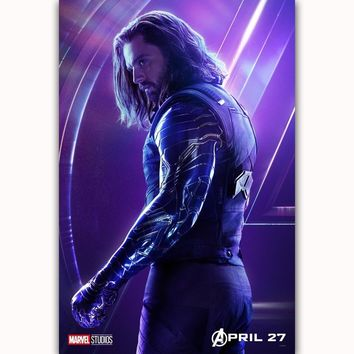 MQ3566 Avengers Infinity War Winter Soldier Movie Characters Film Art Poster Silk Canvas Home Decoration Wall Picture Printings