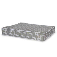 CozyCloud Memory Foam Dog Bed Cover by Dogo - Gray with Pattern