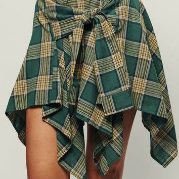 Stand Out Plaid Skirt (Green)