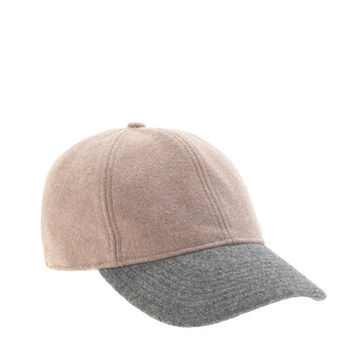 Colorblock wool baseball cap - scarves & hats - Women's accessories - J.Crew