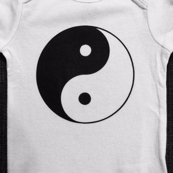 Yin Yang Inspired Baby Onesuit or Toddler Tee