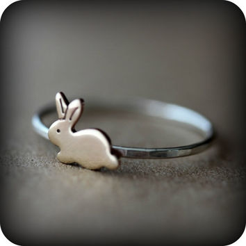 Bunny ring  The ultimate cuteness by junedesigns on Etsy