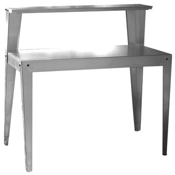 24 x 44 inch Galvanized Steel Top Utility Table Workbench Potting Bench