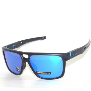 OAKLEY SUNGLASSES CROSSRANGE PATCH 9382-03 MAT TRANS BLUE PRIZM SAPPHIRE IRIDIUM
