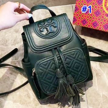 Tory Burch sells casual solid color lady's shopping bag with stylish turtleneck backpack #1