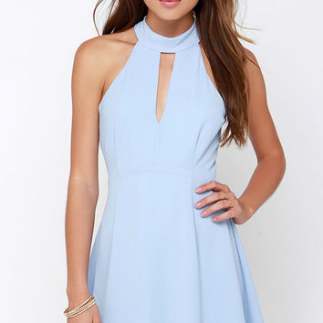 Halter At Ya Periwinkle Dress