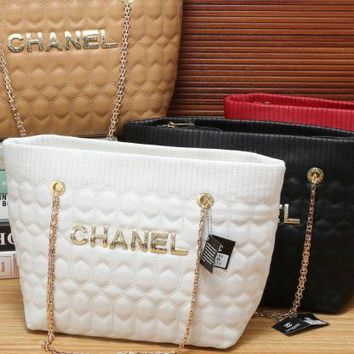 chanel 2017 fashion Diamond lattice leather Shoulder Bag [100662575119]