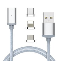 2 in 1 Magnetic Charging Cable Combo - Fast Phone Charger/Data Transfer Sync For Android and Apple - Micro Usb Lightning Quick Adapter for Smartphone & Tablets by Samsung Galaxy S5 S6 S7 Iphone 6 7 [11894834703]