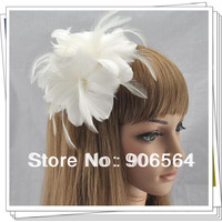 Free shipping 3 color avaliable elegant  feather fascinator hair accessories/Good as party hats/wedding hats/brooches,MSF197