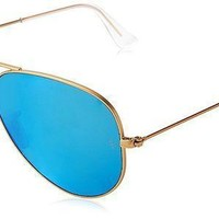 Vone7jz Ray Ban Women's Oversized Mirrored Aviator Sunglasses