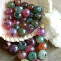 8mm Multicolor Dragon Vein Agate Beads Round 10 Pieces