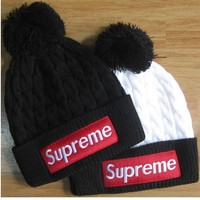 Supreme Wool hat men and women sets the first winter hat knitted hat