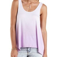 Lavender Slouchy Dip-Dye Tank Top by Charlotte Russe