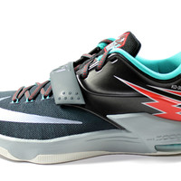 Nike Men's KD VII Black/Silver/Red Thunders Basketball Shoes 653996 005