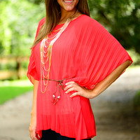 Accordion To Me Top, Red