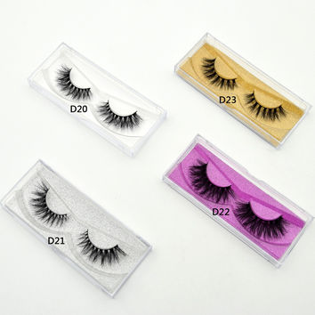 Visofree Mink Lashes 3D Mink False Eyelashes Long Lasting Lashes Natural Lightweight Mink Eyelashes Glitter Packaging New 1 Pair