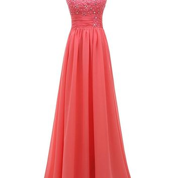 2017 Edaier Long Formal Floor Length Lace Chiffon Beach Modest Bridesmaid Dresses Sleeveless Ruched Temple Bridesmaids Gowns